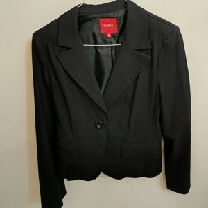 Juniors one button blazer